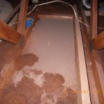 Missing attic insulation