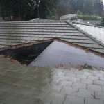 Poor roof drainage